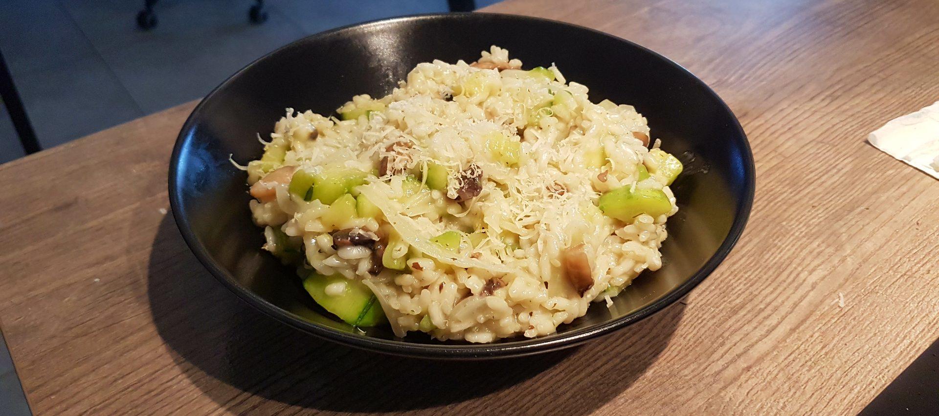 Recette v gane de risotto courgettes champignons je for Cuisinier vegan
