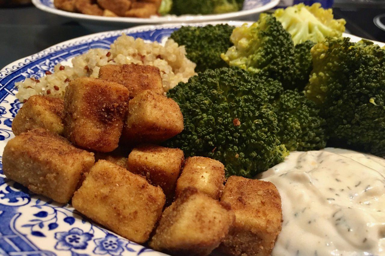 Recette v gane de tofu frit cumin coriandre je cuisine vegan for Cuisinier vegan