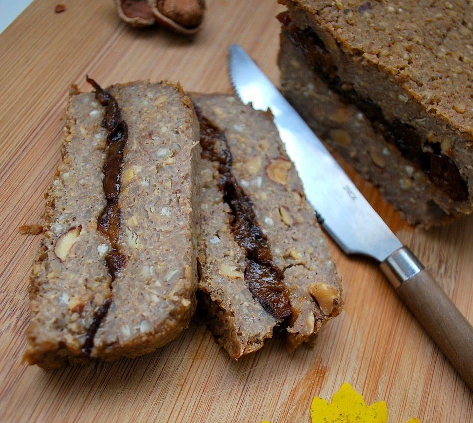 Recette v gane de terrine pruneaux et noisettes sans for Cuisinier vegan